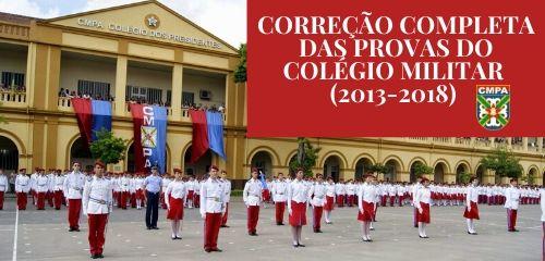 Correção Provas Colégio Militar - Ensino Fundamental - Matemática (2013 á 2018)
