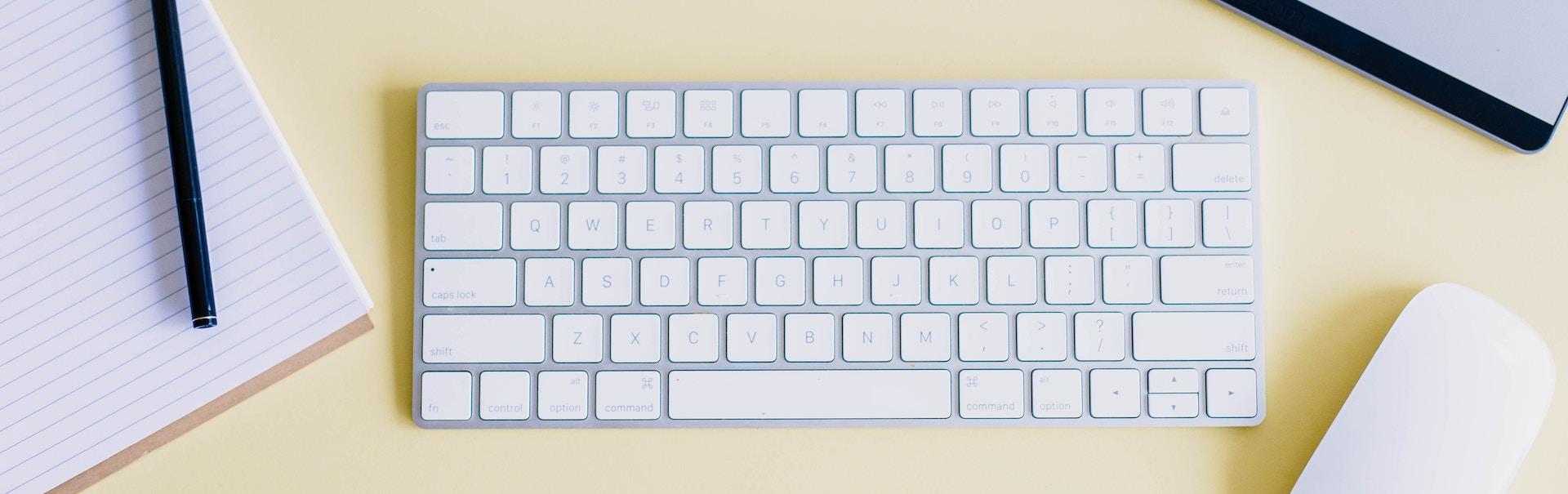 5400991 desk office keyboard apple pen notebook paper plant mouse tablet desktop yellow apple mouse apple keyboard wacom tablet designer flat lay designer desk yellow flat lay flat lay creative common