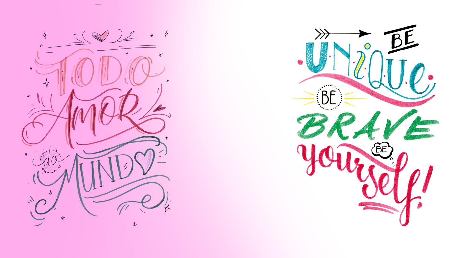 banner site cursos lettering avancado