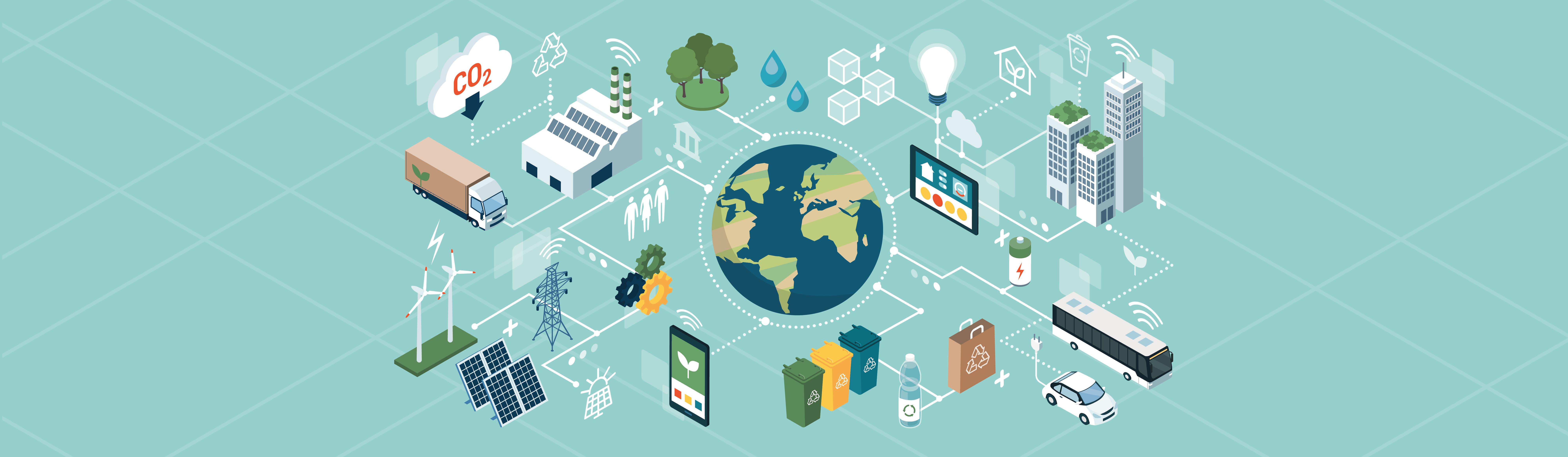 Consumo sustentabilidade banner plataforma