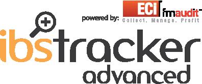 Logo ibstracker advanced fmaudit vermelho