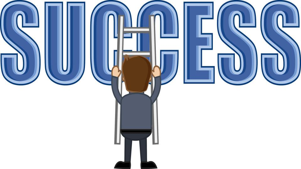 Success ladder business cartoons vectors gjafvkdd l