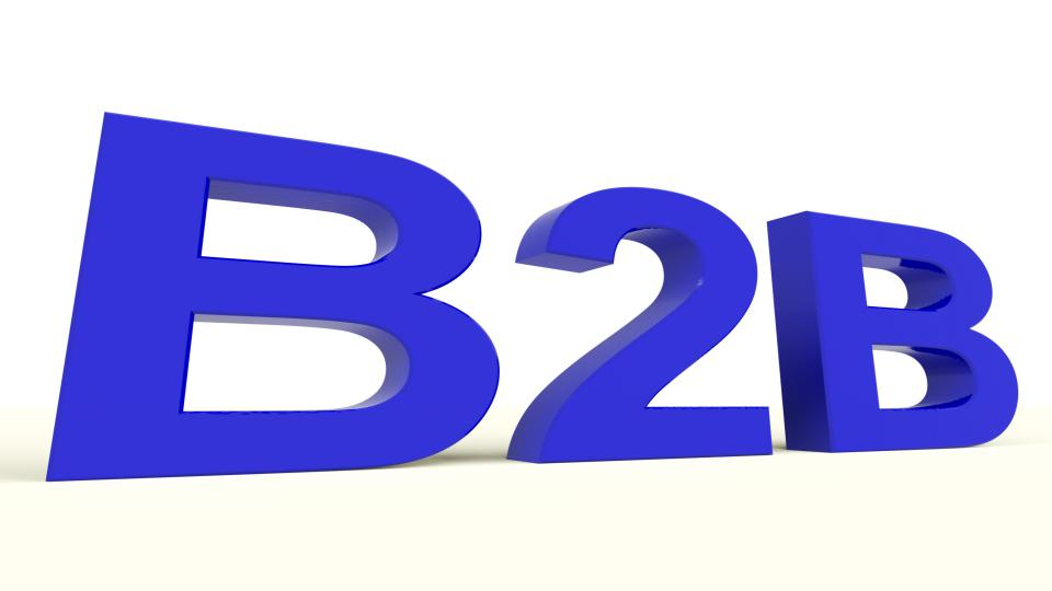 B2b word as a sign of business and commerce z1hqgfpd
