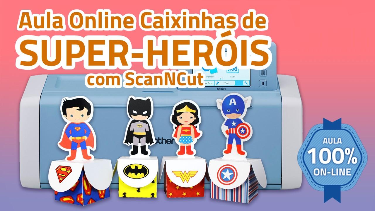 Plataforma capa caixinhas super herois