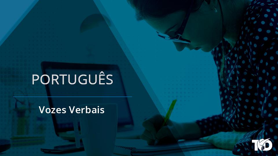 Card portugues vozes verbais