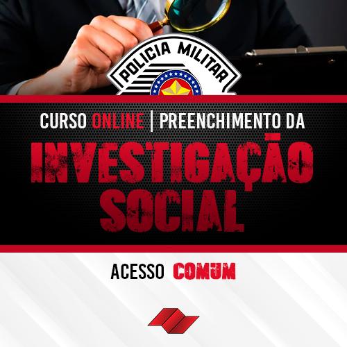 Curso preenchimento formulario fase investigacao social is pm sp