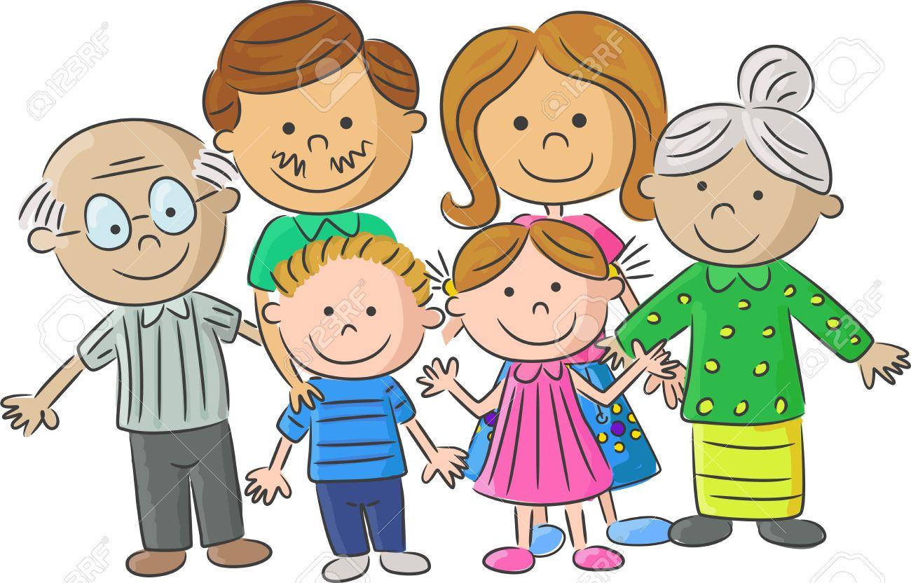 42248161 cartoon padres para el cuidado completo de la familia con ni%c3%b1os