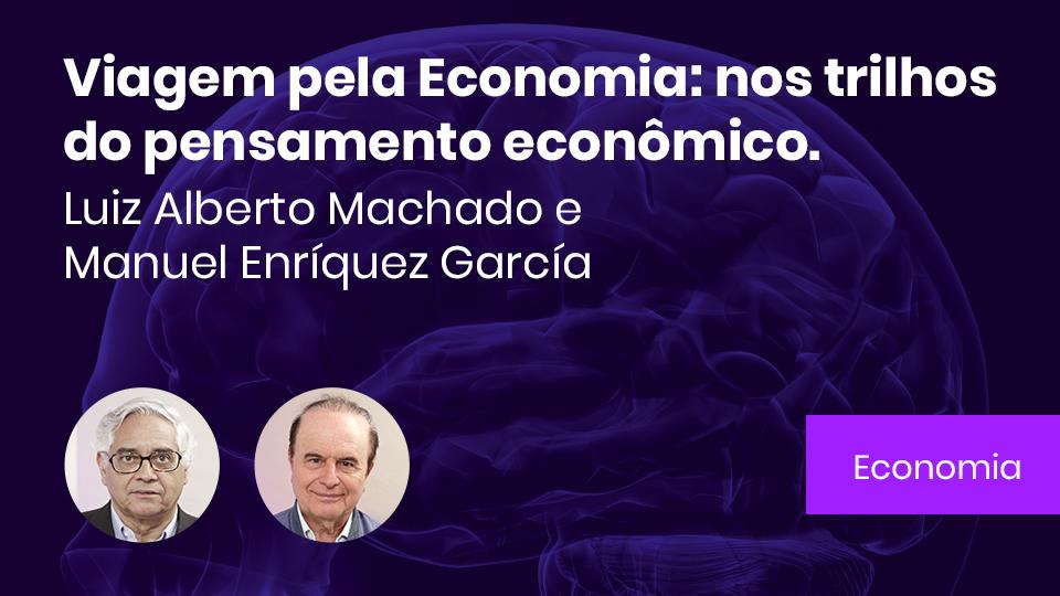 Banner card viagem pela economia nos trilhos do pensamento economico