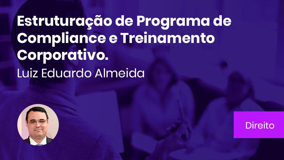 Banner card estruturacao de programa de compliance e treinamento corporativo