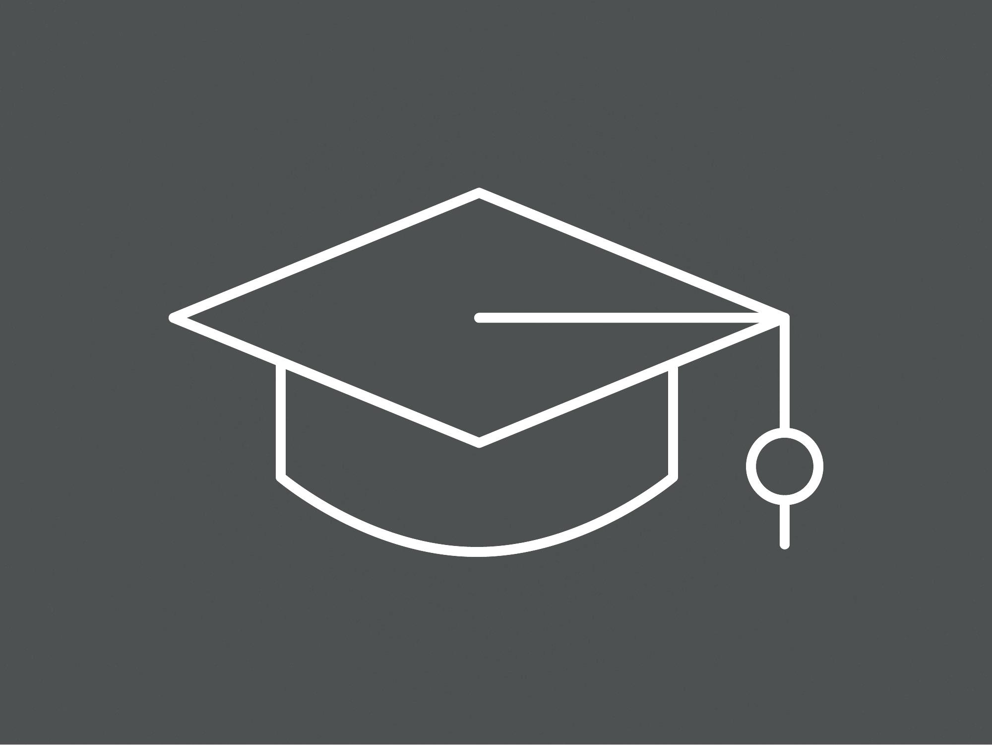 Icon education cinza