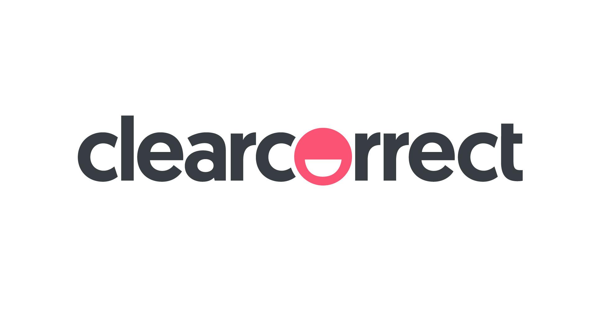 Logo clear cinza e rosa