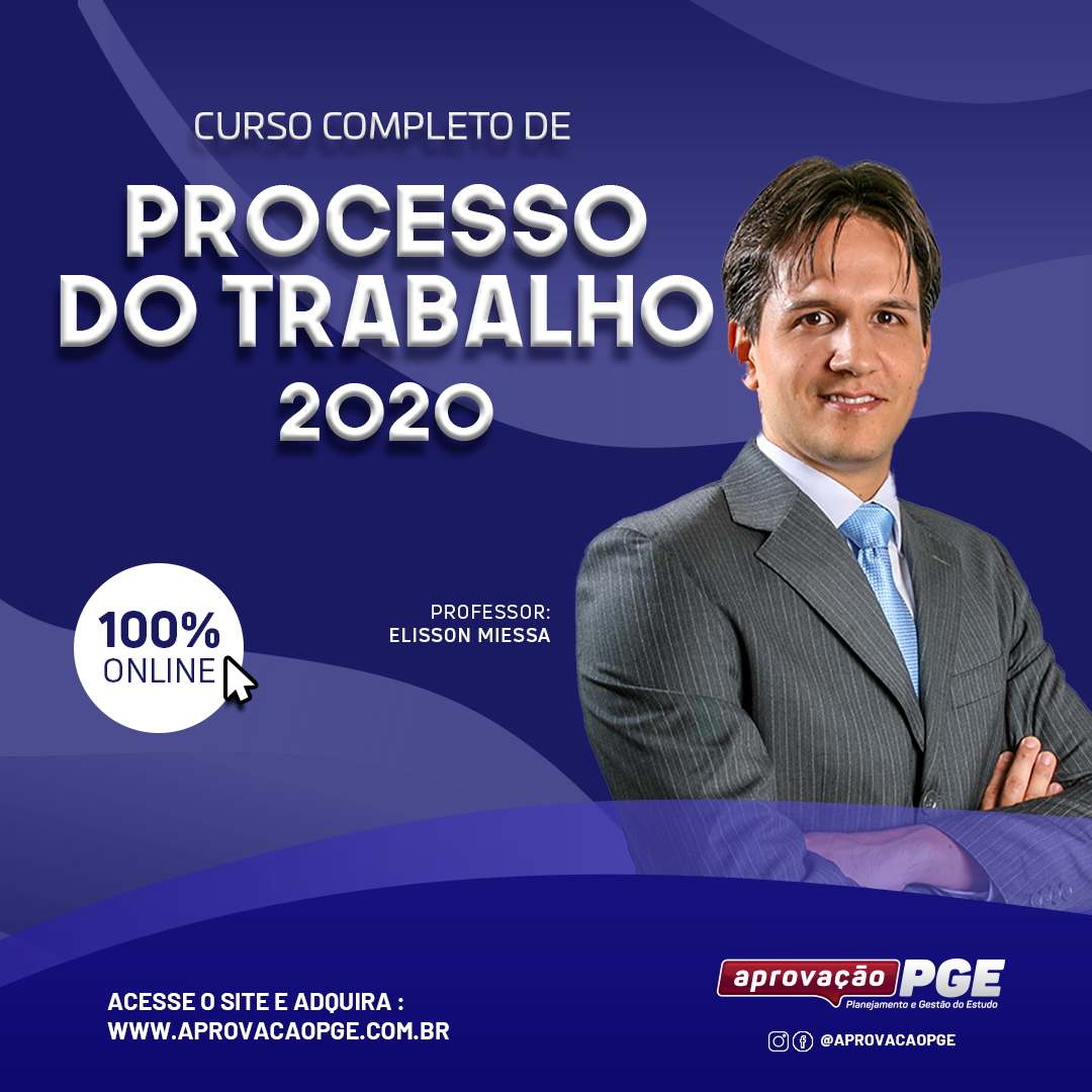 Curso dprocesso trabalho 2020 elisson 1080x1080px card feed quadrado capa curso
