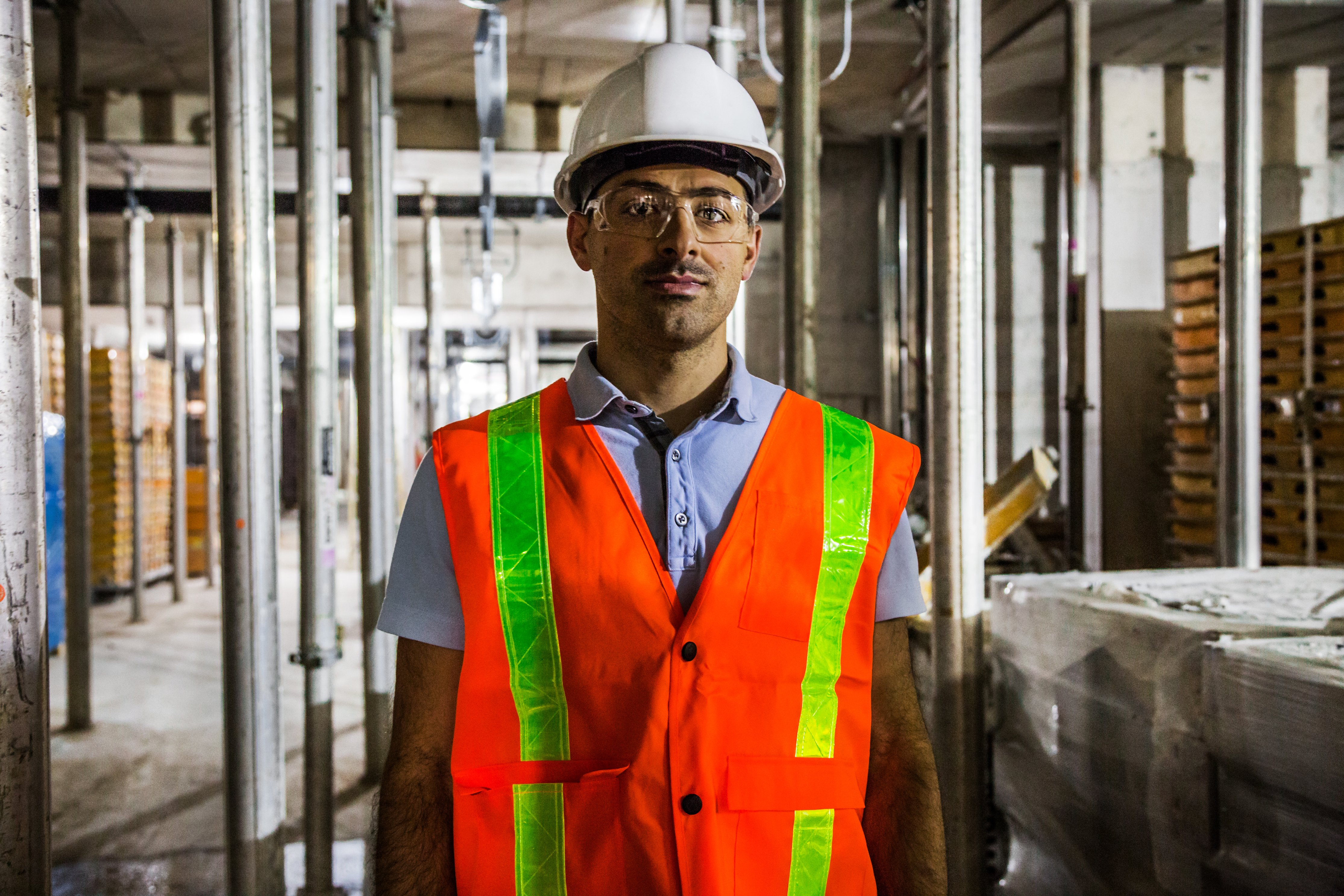 Construction worker safety gear