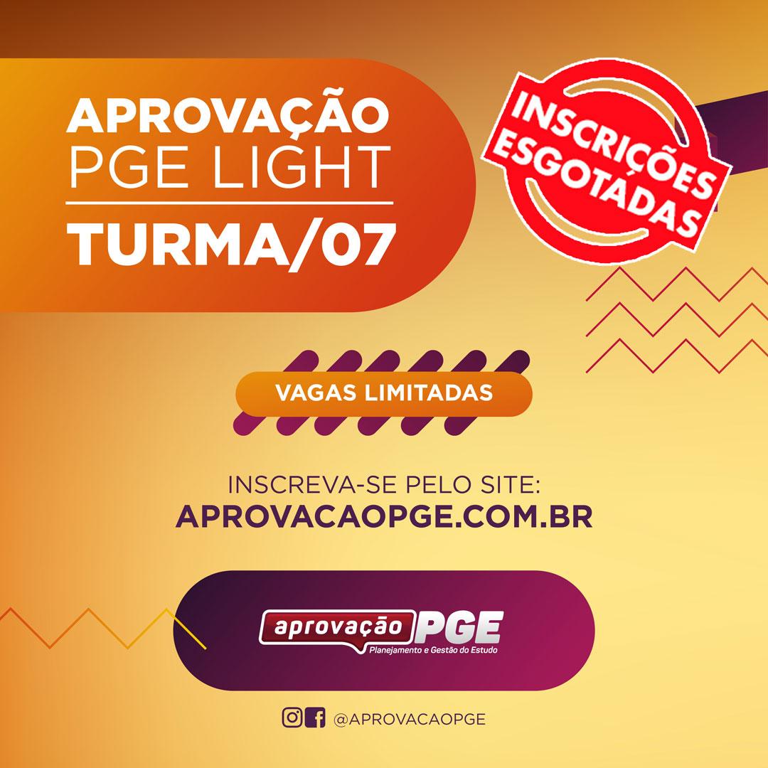 Pge light t7 card capa esgotados