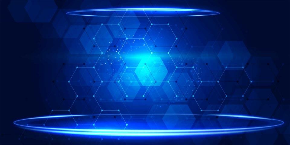 Pngtree blue technology background banner image 125518