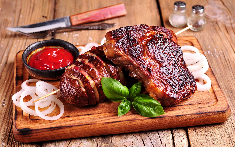 Bbq food meat sauce 2880x1800