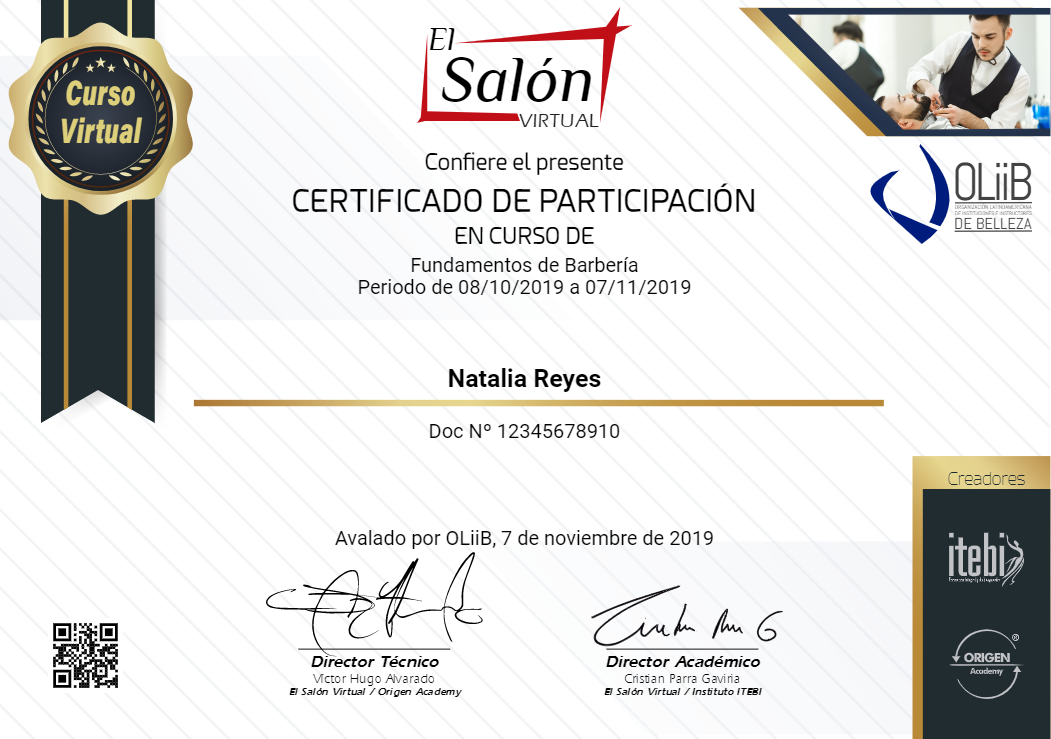 Curso Virtual de Fundamentos en Barbera