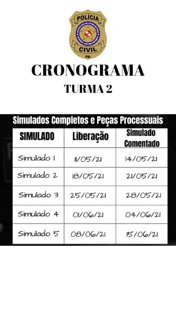 Cronograma - DPCPA - Turma 2